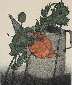Art Hansen : Watering Can and Poppies 1988 at Davidson Galleries