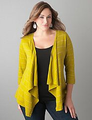 Sparkle stripe cardigan by Lane Bryant