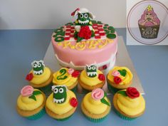 Dorothy the dinosaur cake & cupcakes @ https://www.facebook.com/pages/Little-Krush-Cupcakes-NZ/485728288124195