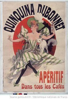 """Jules Cheret """"Quinquina Dubonnet, apéritif dans tous les cafés"""" 1895"""
