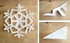 Как сделать снежинку из бумаги (3)