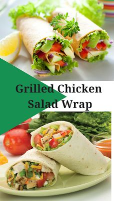 Recipes by Vance: Recipes - Grilled Chicken Salad Wrap Easy Bbq Chicken, Chicken Wrap Recipes, Marinated Grilled Chicken, Grilled Chicken Recipes, Healthy Chicken, Dinner Under 300 Calories, Clean Eating Chicken, Salad Wraps, Healthy Dinner Recipes