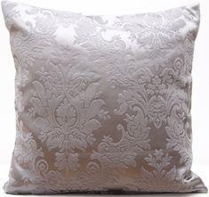 Luxusní stříbrný povlak na polštář s ornamenty SKLADEM