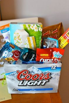 Diy easter crafts for grown ups easter crafts easter and craft easter basket for the man in your life ill have to remember this one so cute ill do soda instead great idea for any guy gift basket negle Choice Image