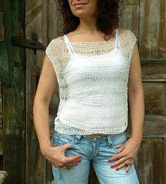 SUMMER SALE 30% Linen Lace Knit Top Swimsuit Lace Cover