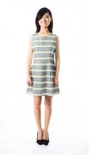 S132-05 Georgina Stripe Dress