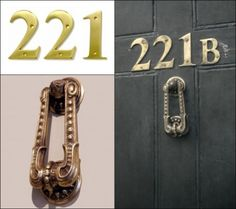 221B Baker Street Door Accents