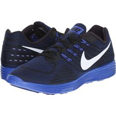 Nike Lunartempo 2 (Deep Royal Blue/Black/Racer Blue/White) Men's... ($75) ❤ liked on Polyvore featuring men's fashion, men's shoes, men's athletic shoes, blue, mens blue shoes, mens black running shoes, mens white running shoes, nike mens athletic shoes and mens lightweight running shoes