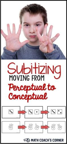 Subitizing involves instantly recognizing a small quantity of objects. Read how to move your students beyond simple (perceptual) subitizing and help them develop the ability to instantly compose subgroups into a whole (conceptual).