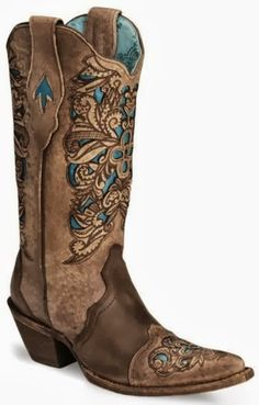 Corral Inlay Laser Tooled Cowgirl Boot Pointed Toe Sheplers