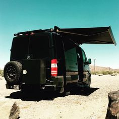 Aluminess rear bumper and rails on a Mercedes Sprinter.  Photo cred to Nu'a Bon