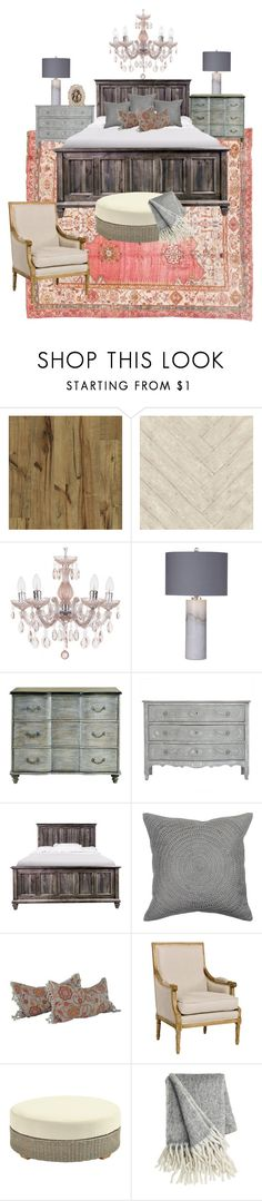 Master Bedroom design by tmarrah for Marrah Interiors on Polyvore featuring interior, interiors, interior design, home, home decor, interior decorating, Currey & Company, Basset Mirror Company, Ballard Designs and Villa Home Collection