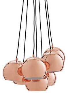 600 €-Suspension Ball / Set de 7 - Exclusivité Cuivre - Frandsen