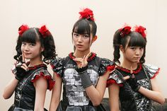 Meet Babymetal. They're three teenage girls from Japan who play a mix of heavy metal and J-pop. They're amazing.