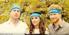The close trio lined up for an official photo in their headbands, and William told the others they should attempt a serious photo