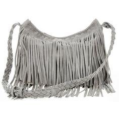 THG Fransen Damentasche Troddelbeutel Faux Suede Shoulder Handtaschen Umhängetasche mit Fransen Fringe bag