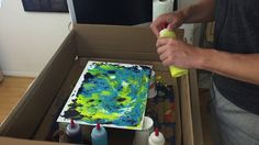 How to make Paint Swirl Effects with Liquitex Pouring Medium and Acrylic Inks