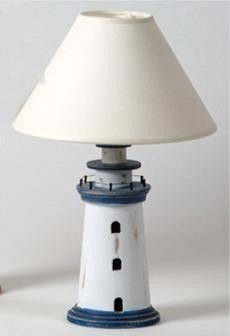Wooden Lighthouse Table Lamp Main Image