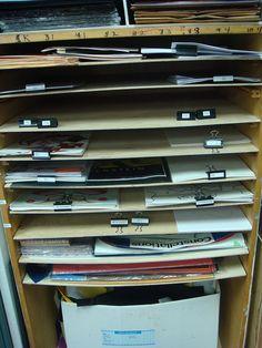 labeled binder clips, Project Prep Shelves by teachingpalette, via Flickr