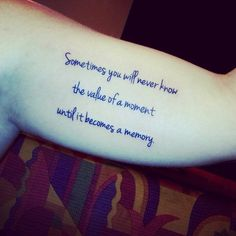 My tattoo of one of my favorite Dr. Seuss quotes