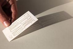Laser cut business card