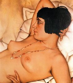 Halbakt, 1929 by Christian Schad. Magic Realism. nude painting (nu)