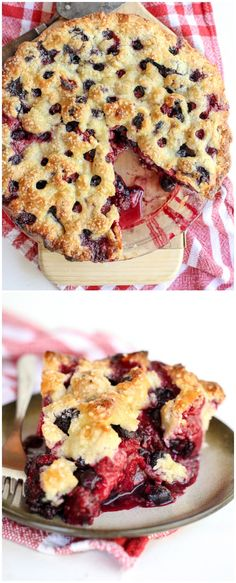 The Berry Best Four Berry Pie Recipe on foodiecrush.com