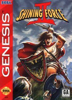 Shining Force II (Sega Genesis, for sale online Used Video Games, Classic Video Games, Retro Video Games, Video Game Art, Retro Games, Arcade, Videogames, Game Of The Day, Sega Genesis Games