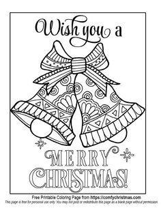 Free Christmas Bells Coloring Page To Download From Comfychristmas