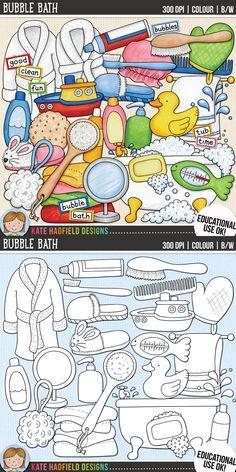 Bath Time Clip Art f