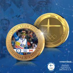Suomen Olympiakomitean kanssa yhteistyössä toteutettu Pohjoisen tähdet -kokoelma kertaa suomalaisittain merkittäviä olympialaisia ja kunnioittaa menestyneitä urheilusankareitamme. Lähde sinäkin Pohjoisen tähtien mukaan ja tilaa nyt Calgary 1988 -keräilymitali etuhintaan! Mitalin myötä saat toimitustakuun Pohjoisen tähdet -kokoelman viidelle muulle mitalille. Calgary, Olympic Team, Finland, Olympics, Sports, Hs Sports, Sport