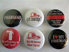 Firefighter Magnet Set / 106 by Getagripmagnets on Etsy, $7.50
