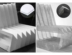 Origami Chair - polypropylene origami, corrugated plastic type of material can be folded origami style. Possible mat'l for large origami cranes. Origami Chair, Origami Cranes, Artist Chair, Corrugated Plastic, Folding Stool, Magazine Design, Art And Architecture, Paper Art, Cool Designs
