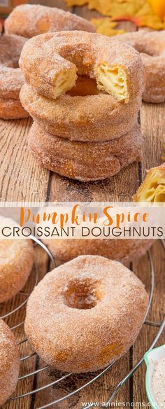 These perfectly golden, flaky Pumpkin Spice Croissant Doughnuts are ridiculously easy to make and utterly divine. Got 30 minutes? Then you have time to make these!