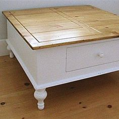 Our English Farmhouse Coffee Table makes a great Train Table w/ storage