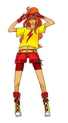 Kid Flash - Comic Books Meet Fashion Week With Katrina Navarro's Designs Superhero Fashion, Superhero Design, Cute Costumes, Cosplay Costumes, Kid Flash, Flash Art, Wally West, Superhero Villains, Super Hero Outfits