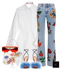 """Untitled #3747"" by kimberlythestylist ❤ liked on Polyvore featuring Christian Dior, Gucci, Fallon, ZeroUV and Marco de Vincenzo"