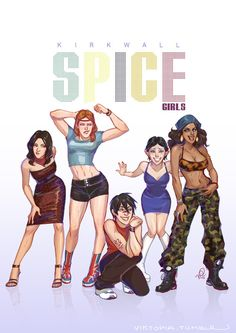 Spice up your life | Bethany, Aveline, Hawke, Merrill, Isabella