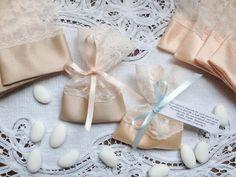 Lace Gift Bags Baptism Favors Wedding Jordan Almond Favor