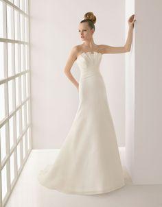 crumb-catcher neckline wedding dress 2012 simple but elegant