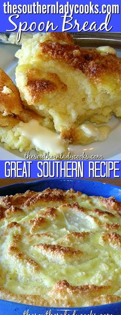 SPOON BREAD - The Southern Lady Cooks - Spoon bread is a delicious Southern recipe prevalent to the South. You eat it with a spoon or fork -SOUTHERN SPOON BREAD - The Southern Lady Cooks - Spoon bread is a delicious Southern recipe prevalent to . Southern Dishes, Southern Recipes, Southern Meals, Southern Comfort, Holiday Recipes, Great Recipes, Favorite Recipes, Yummy Recipes, Keto Recipes