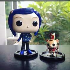 Coraline and the circus mouse are done! #coraline #funko #custom #pop