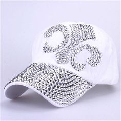 wholesale 2016 new fashion hat caps sunshading men and women's baseball cap rhinestone hat denim and cotton snapback cap hip hop