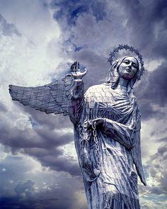 Monument: Virgin of Quito on Panecillo Hill, Quito, Ecuador... #JetsetterCurator