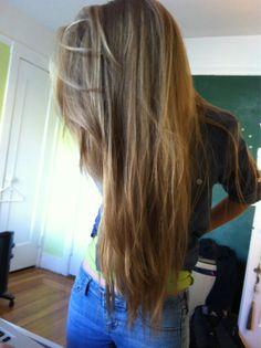 Wish I had straight hair like this, (: