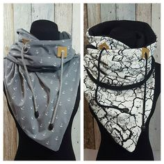 "In the context of this ""stupid"" weather, the fleece-lined hooded scarf . Diy Clothing, Sewing Clothes, Fabric Crafts, Sewing Crafts, Hooded Scarf Pattern, Sewing Scarves, Diy Accessoires, Diy Mode, Diy Fashion"
