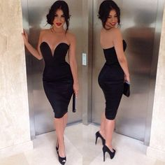 Glamorous, I LOVE -little black dress. If only I had places to I to wear this.