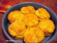 Pumpkin biscuits - delicious with homemade apple butter on top!