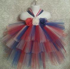 4th of July Baby Girl Tutu Dress Newborn 18 Mon Headband | eBay