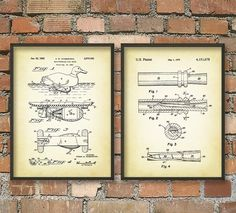 Duck Hunting Patent Wall Art Poster Set by QuantumPrints on Etsy, £8.00